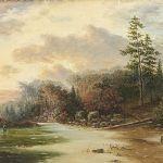 Oljemålning signerad, 1909, 37x53