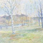 Oljemålning Hans-Erik Eriksson (1921-199