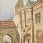 Akvarell ur skissbok som tillhört Karl X