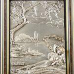 Tavla Silverfärgad relief, 925, 18x13