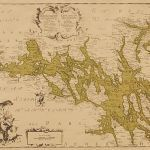 Litografi 1739års karta över Mälaren