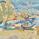 Oljemålning Arne Isacsson (1917-2010)
