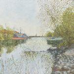 Oljemålning Eugen Holmberg (1911-1993)