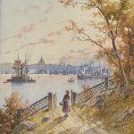 Akvarell Herman Müller