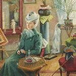 Oljemålning Carl Gustaf Rahmberg (1865-1