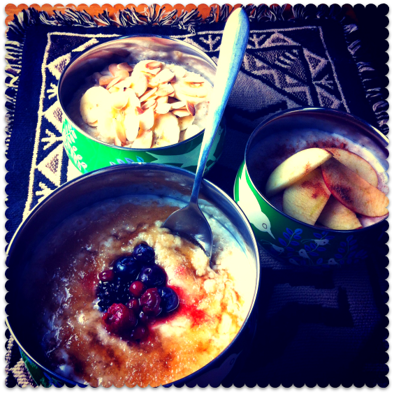 Thrifty Deskfest #5: Porridge Three Ways