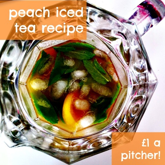 Peach iced tea in five minutes