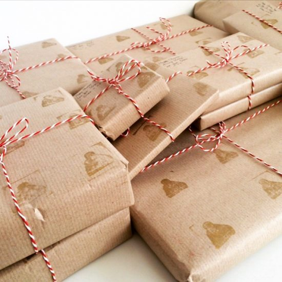 Thrifty Christmas: How To Make Brown Parcel Paper POP