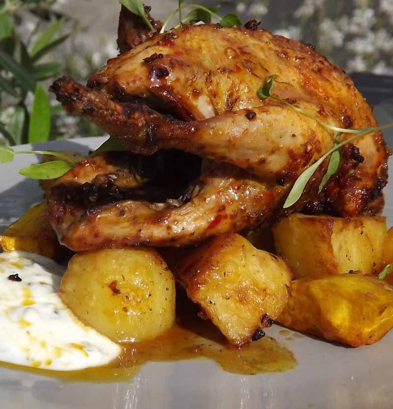 Roast Partridge recipe with Harissa