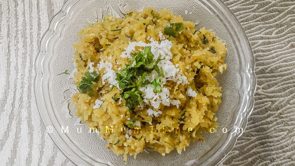 Ratalyacha Kees (Grated Sweet Potato) – Upvas Recipe