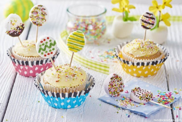 Cupcakes de lollipop