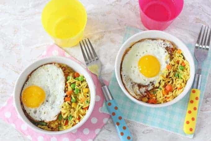 Vegetable Rice & Egg Bowl | 5 Minute Meal