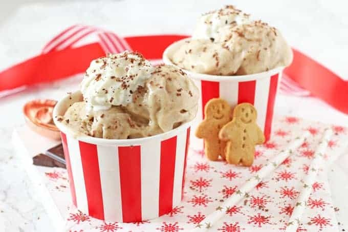 Gingerbread Ice Cream {Free From Christmas}