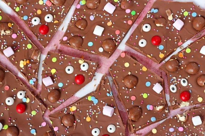 Red Nose Day Chocolate Bark