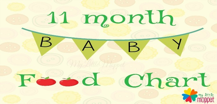 11 months Baby Food Chart and Meal Plan