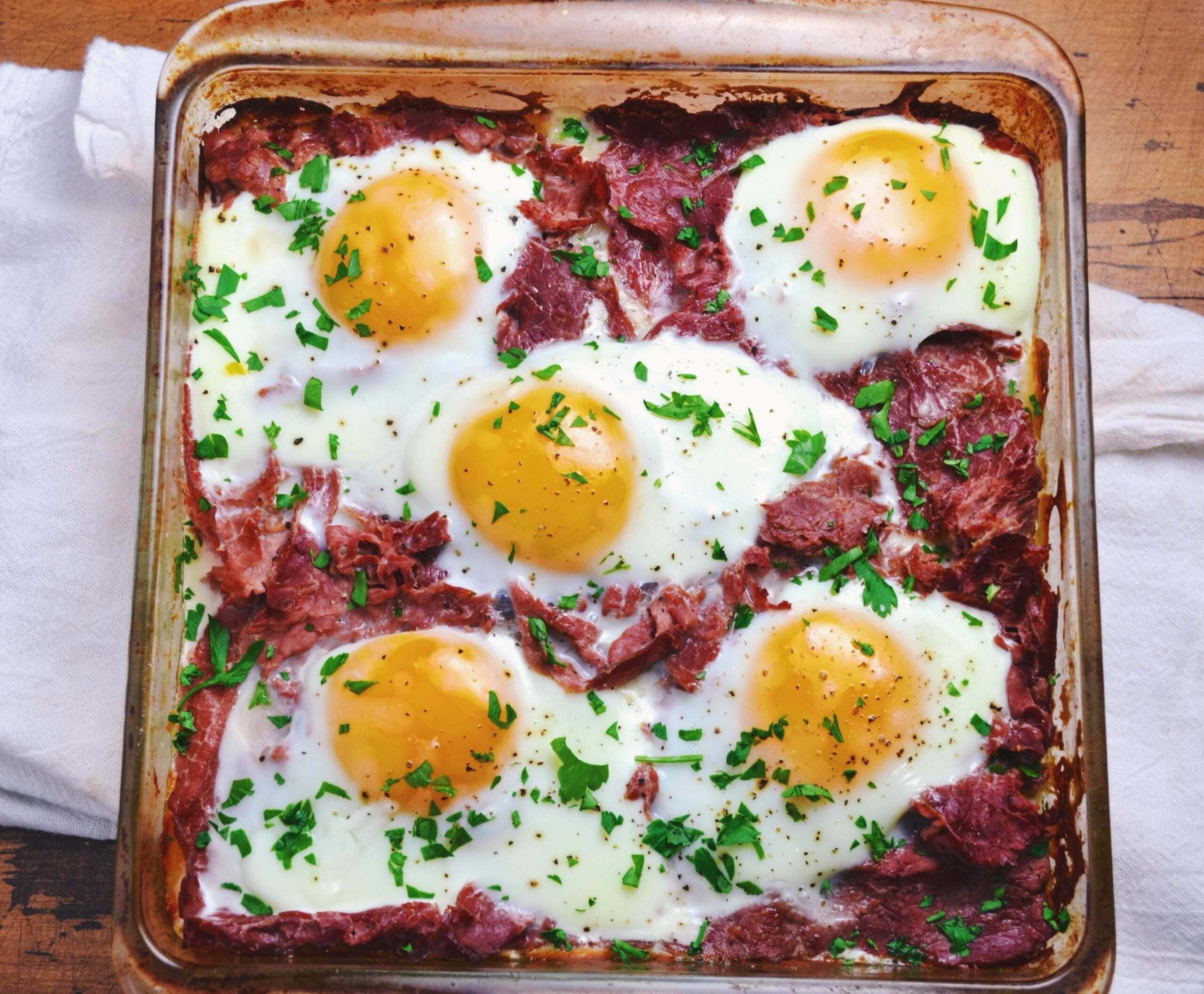 Corned Beef and Potato Breakfast Casserole