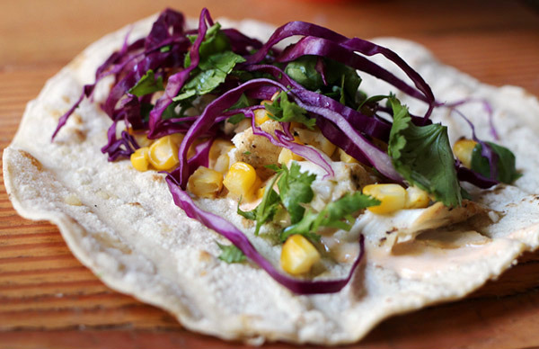 BBQ Grilled Fish Tacos with Chipotle Lime Dressing
