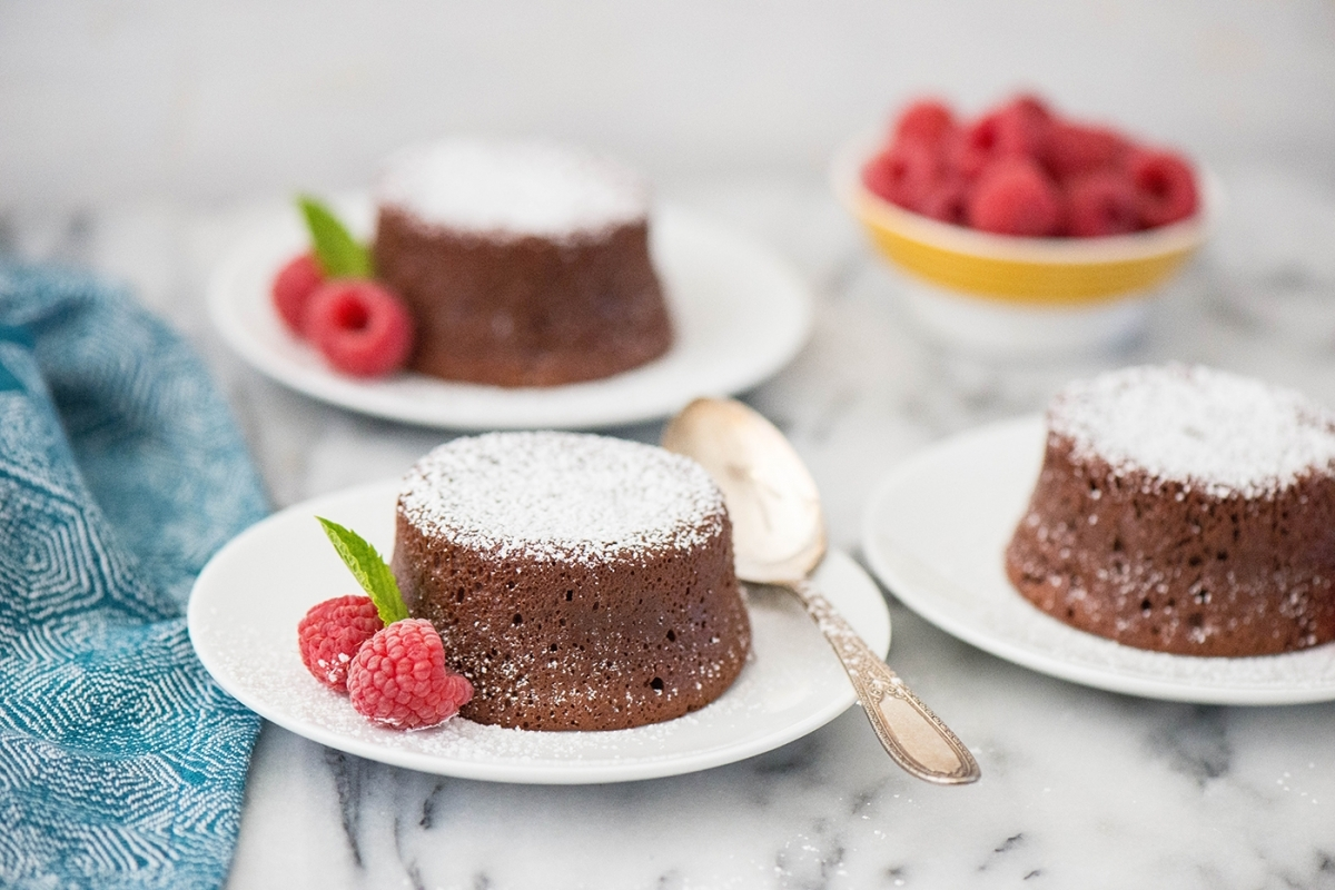 Mexican Chocolate Molten Lava Cakes
