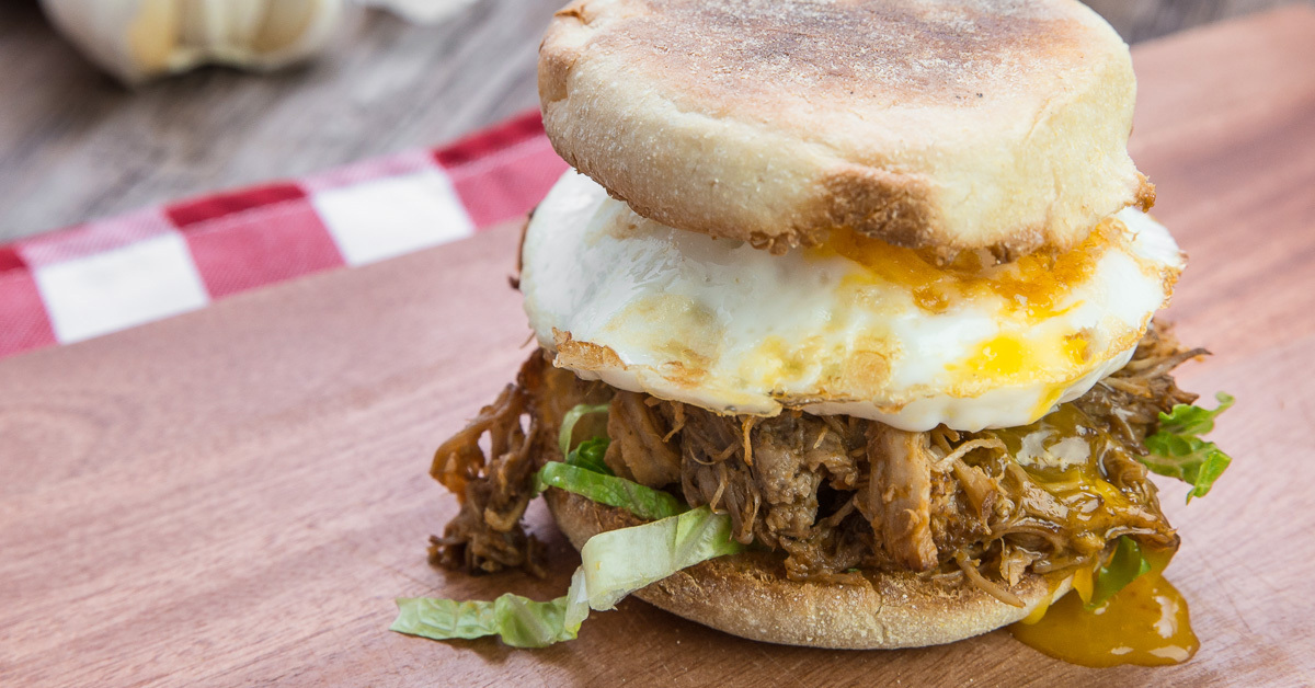 BBQ Pulled Pork English Muffin
