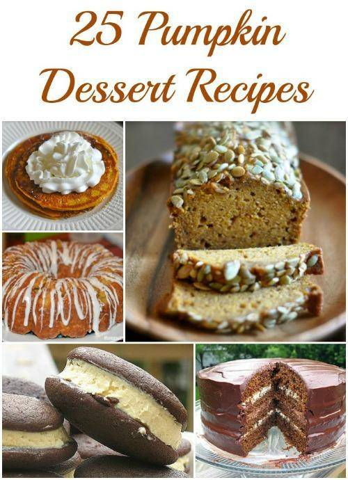25 Easy Pumpkin Dessert Recipes | Cookies, Cakes, Trifles, Cheesecake, Muffins, and more!