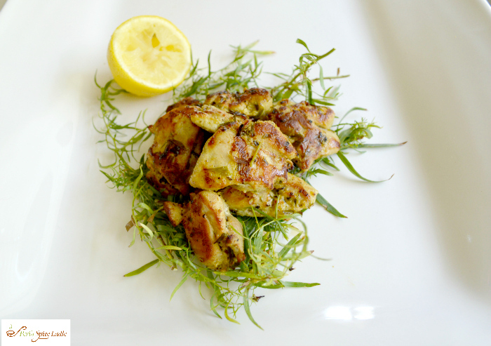Black Pepper Lemon and Tarragon Chicken Tikka
