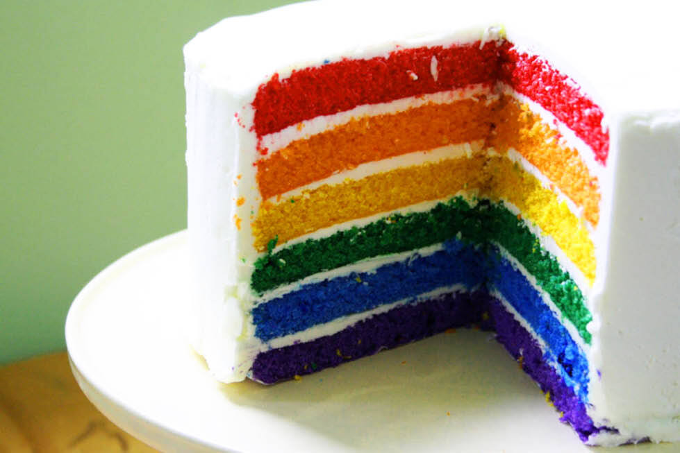 R is for Rainbow Cake