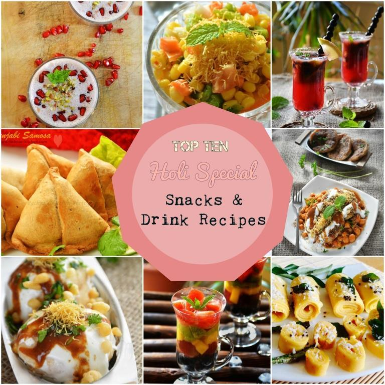 Holi Recipes, Holi Special Snacks And Drink Recipes