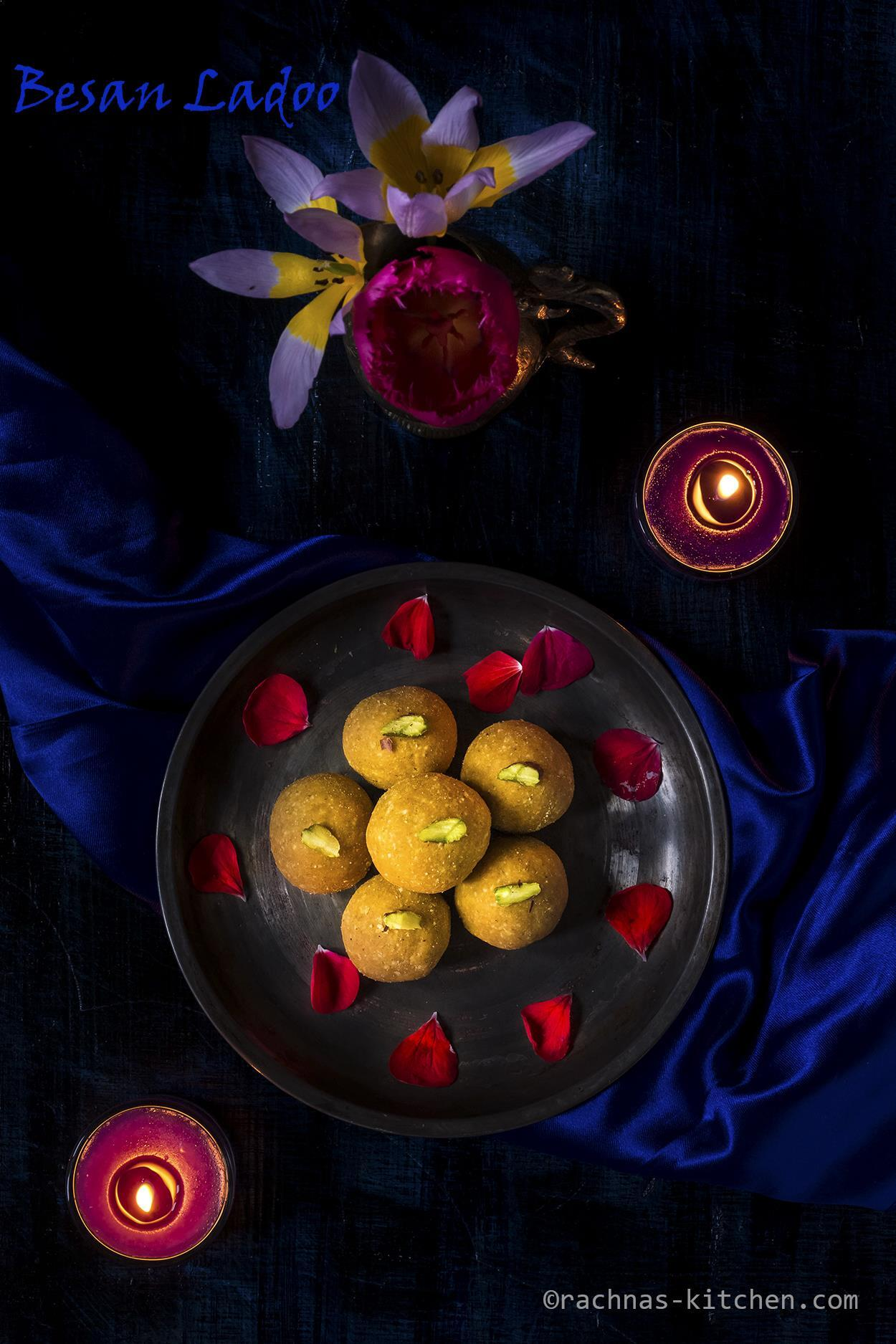 Besan Ladoo Recipe, How To Make Besan Ladoo