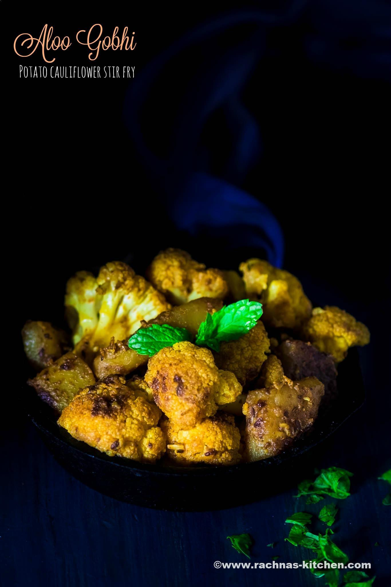 Aloo Gobi Recipe, How To Make Aloo Gobi Dry Recipe