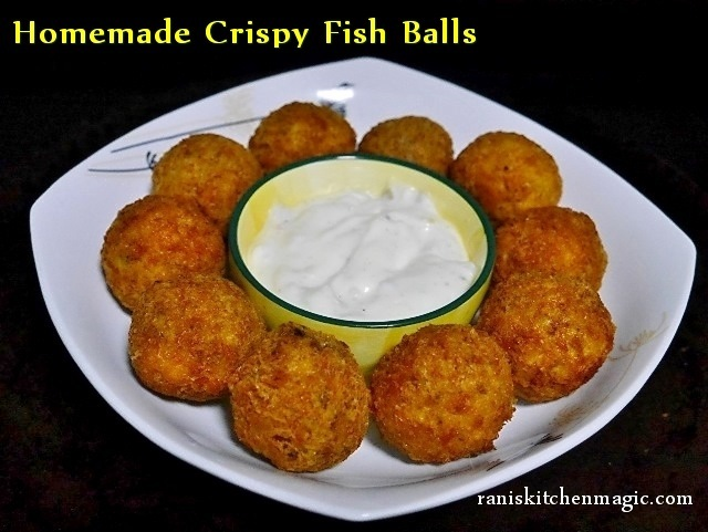 Homemade Crispy Fish Balls (Pan Fried Fish Balls)