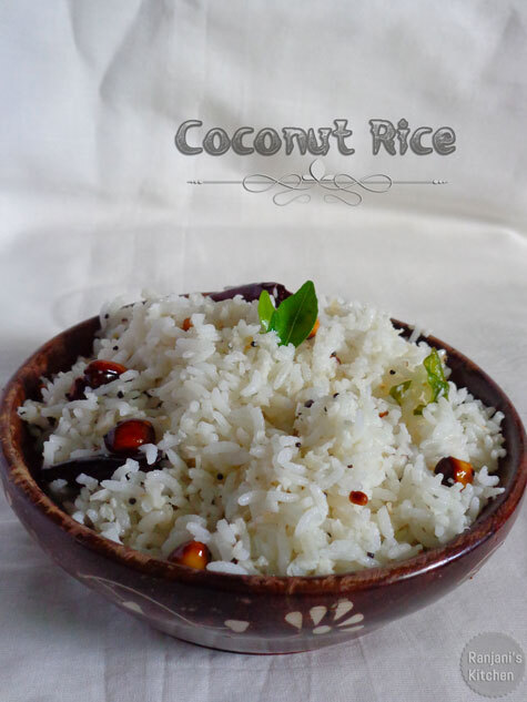 Coconut rice | Lunch recipes