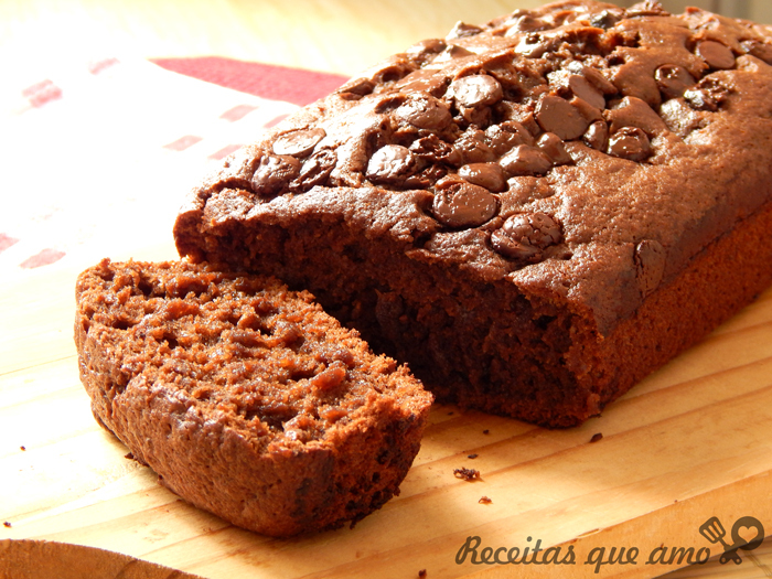 Banana bread com chocolate