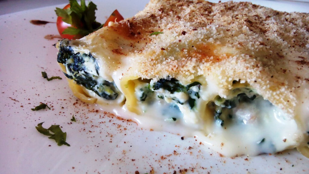 Canelones requesón y espinacas – Cannelloni ricotta e spinaci