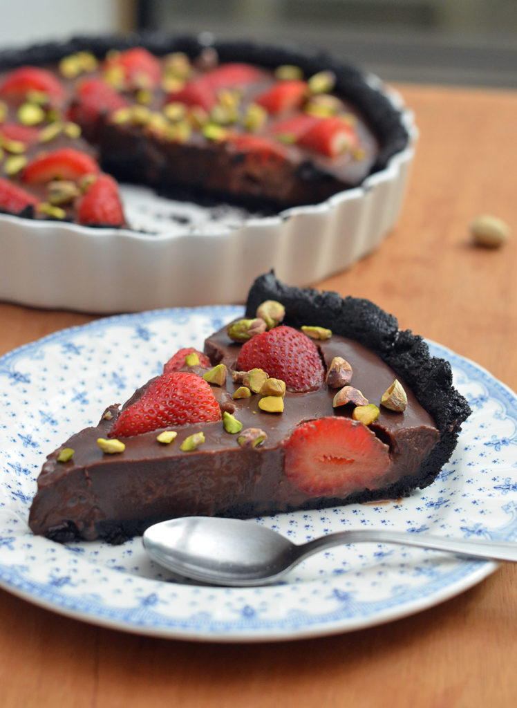 Tarta de Chocolate y Frutillas