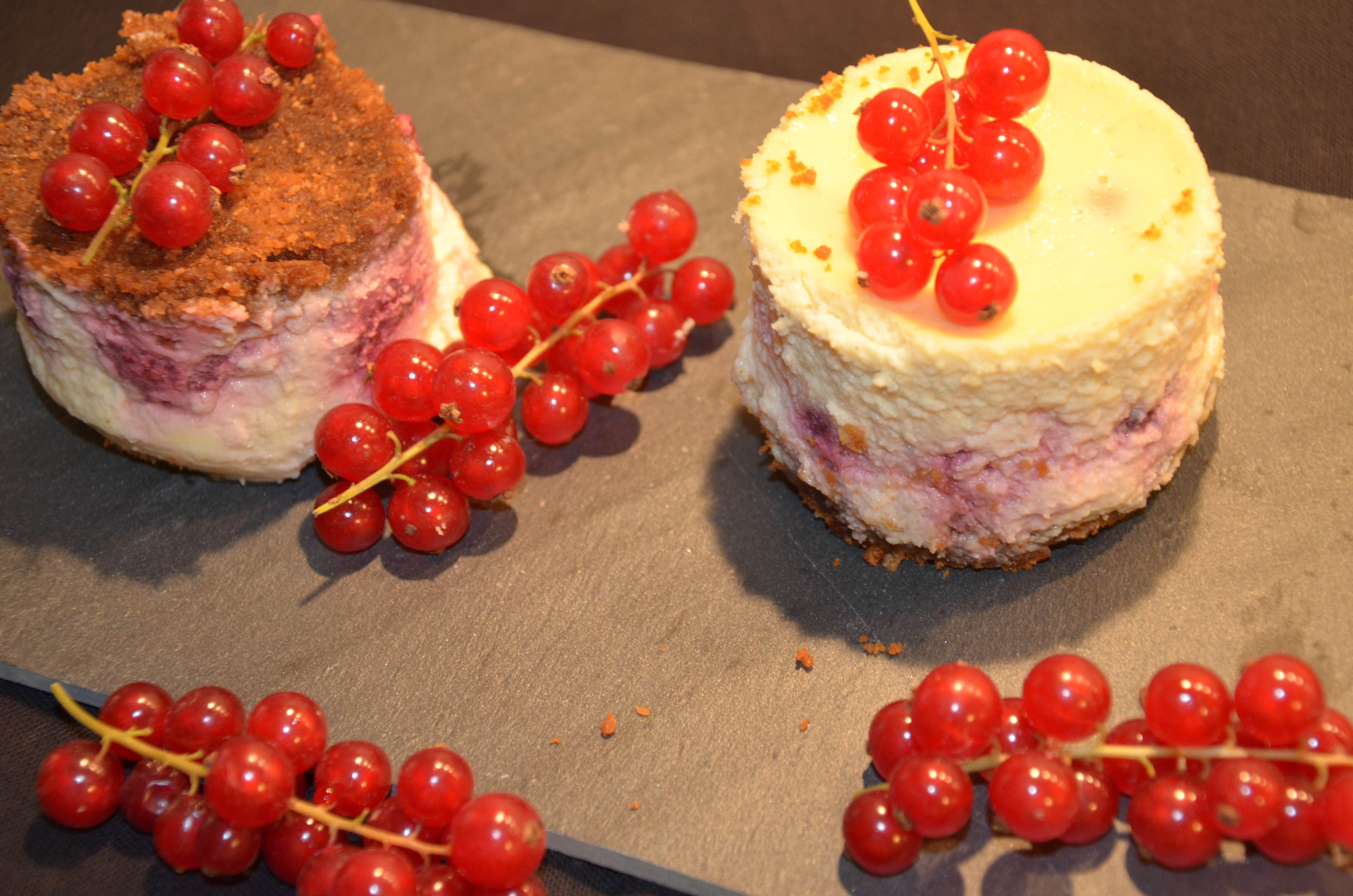 Entremet mascarpone et fruits rouges