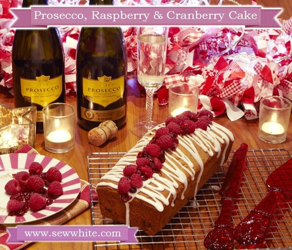 Prosecco, Raspberry and Cranberry Cake