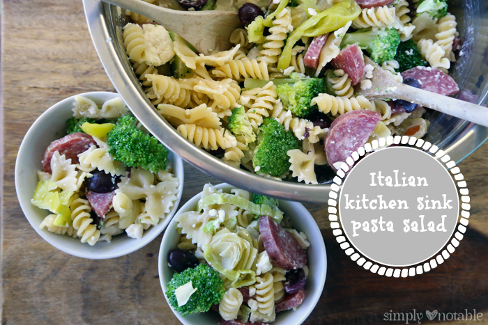 Italian Kitchen Sink Pasta Salad