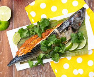 Grilled Mackerel Stuffed with Spicy Chili Paste