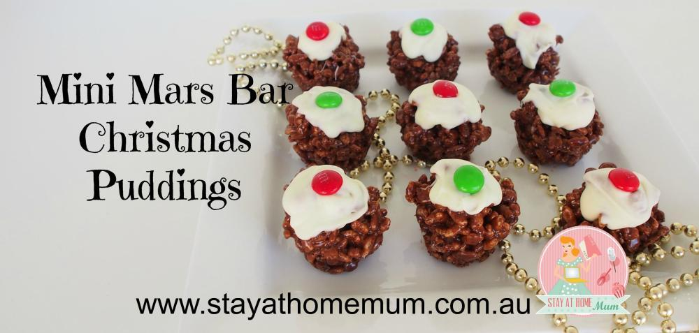 Mini Mars Bar Christmas Puddings