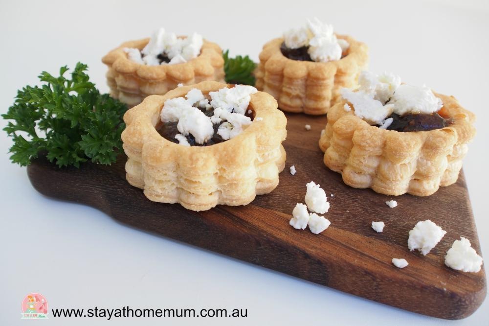 Goats Cheese & Caramelised Onion Vol Au Vents