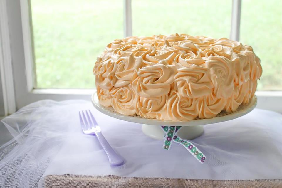 spice cake with orange cream cheese filling and orange swiss buttercream frosting recipe