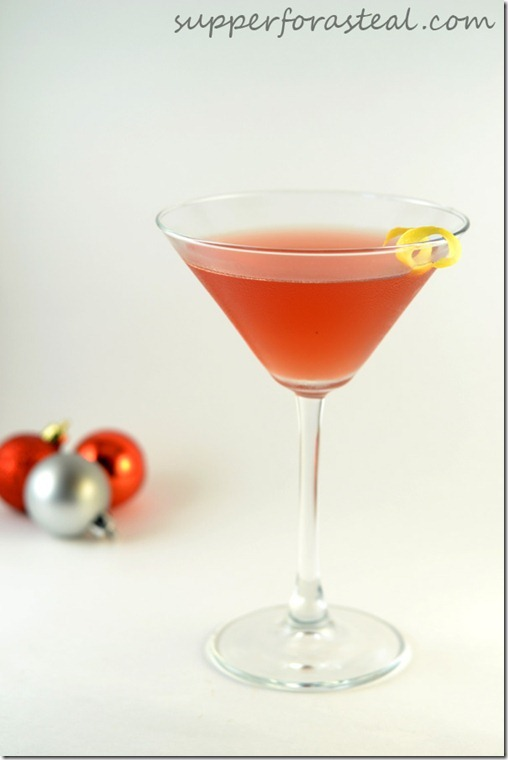 Pomegranate Cosmo for #SundaySupper