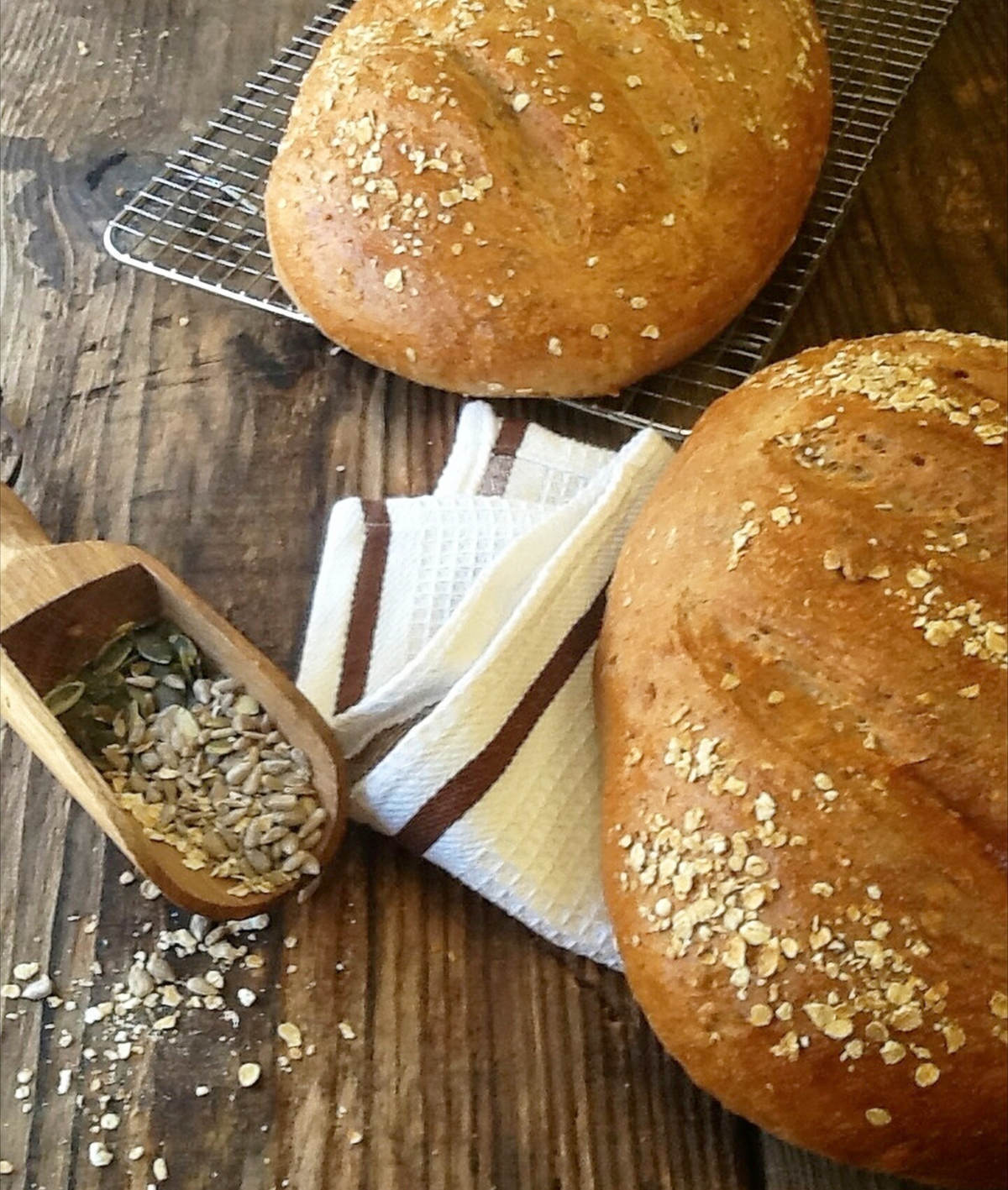 Home Made Multigrain Bread with Easy Step By Step Instructions