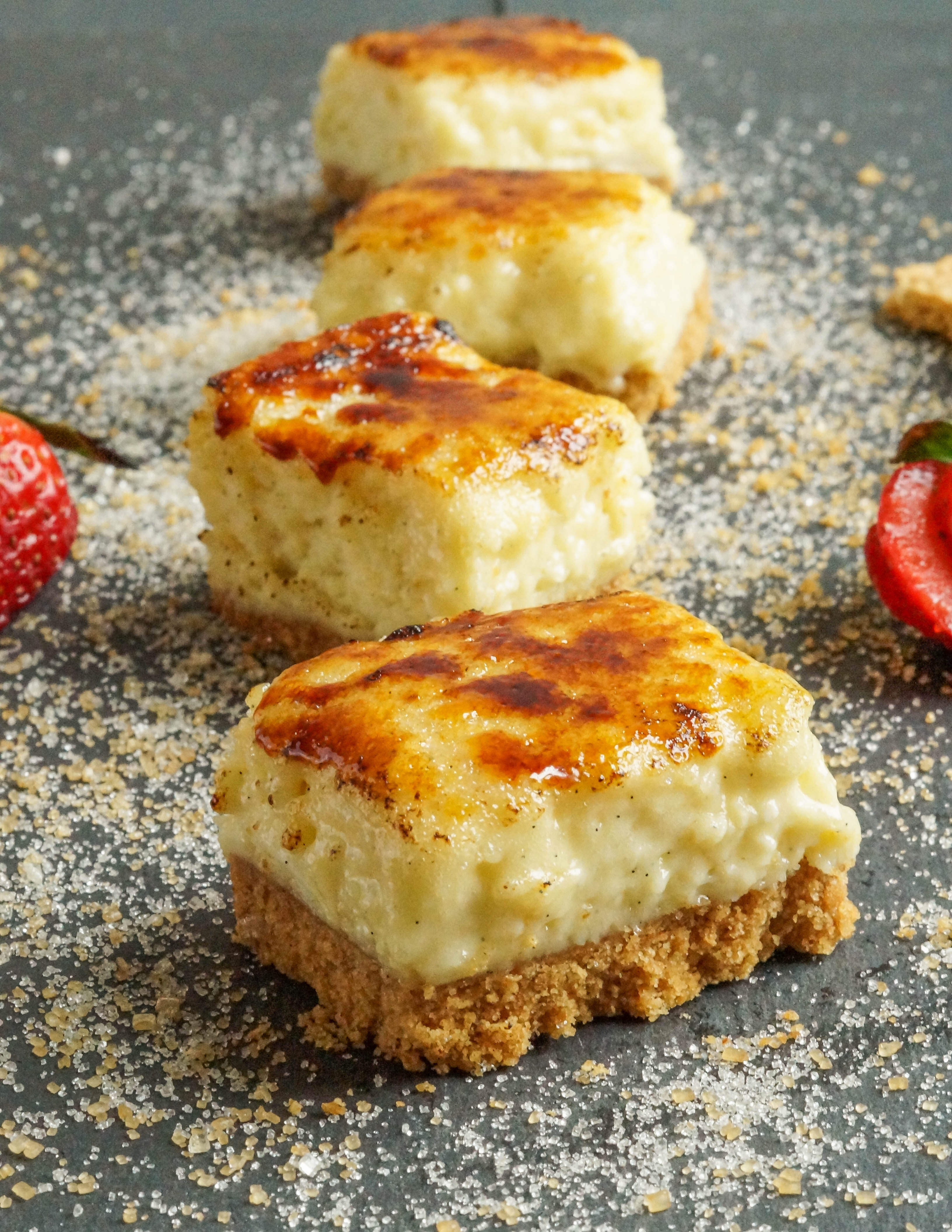 #FifteenCheesecakes: Creme Brulee Cheesecake Bars