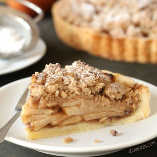 Apple Crumb Tart (gluten-free, whole grain options)