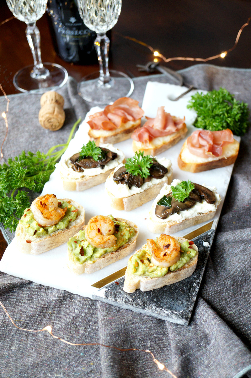 holiday crostini trio