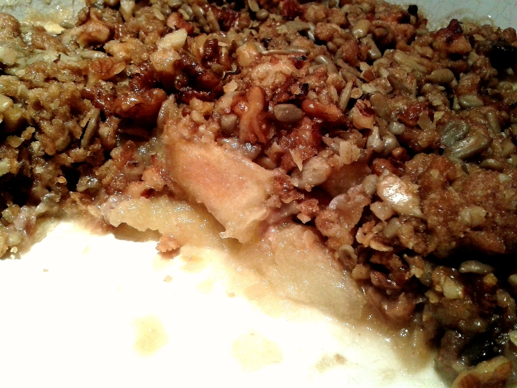 Nutty apple crumble