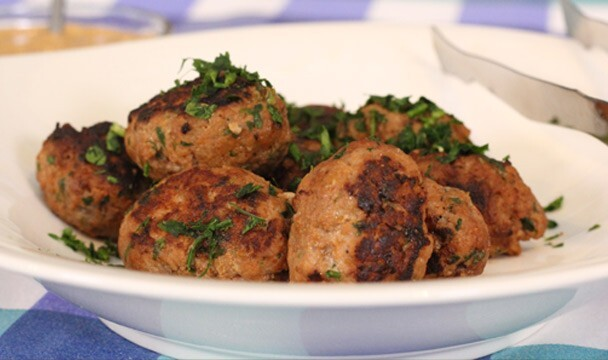 Meat Kofta with Hummus Sauce