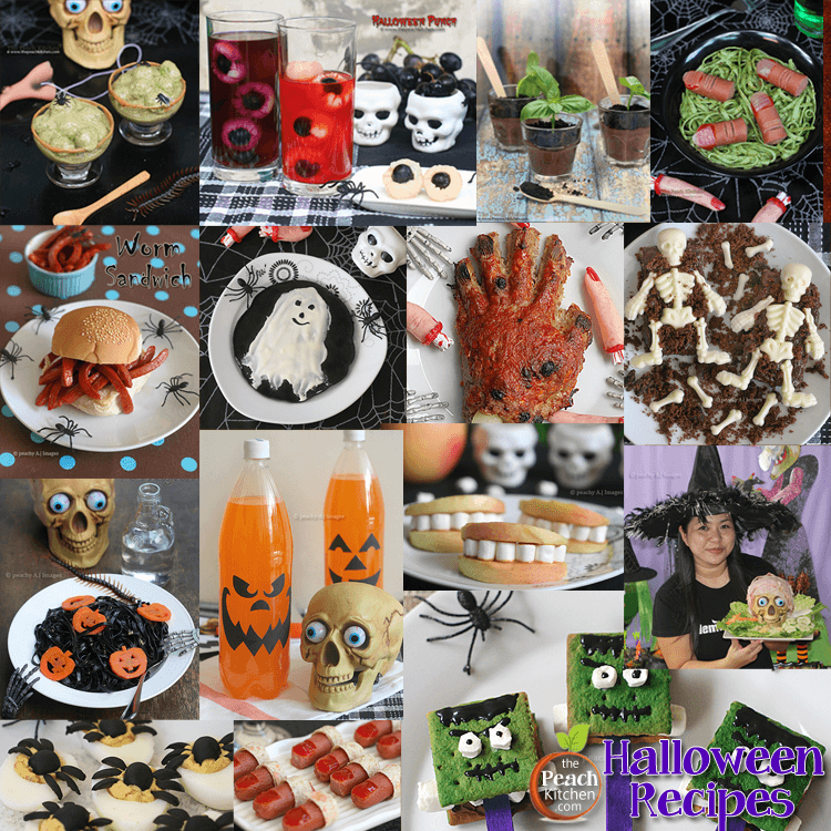 Spooky Halloween Recipes from The Peach Kitchen (Halloween Party Food Ideas)