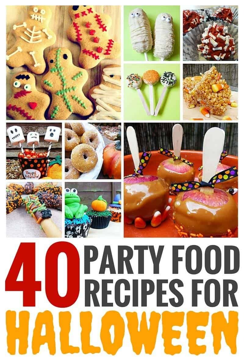 40 Party Food Recipes For Halloween – Crafty October Day 31